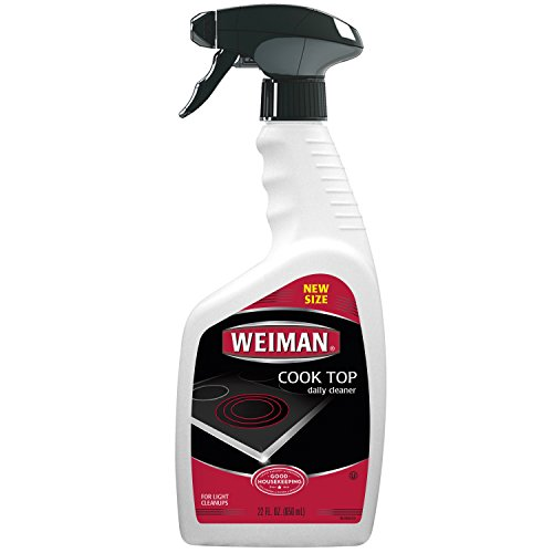 Weiman Daily Cooktop Heavy Duty Cleaner & Polish -  Shines and Protects Glass/Ceramic Smooth Top Ranges with its gentle formula - 22 Fl. Oz.