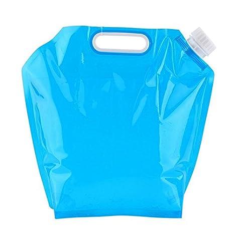 Hrph 5L / 10L Plegable plegable bolsa de agua potable coche de contenedores de transporte de agua para camping al aire libre senderismo picnic barbacoa: ...