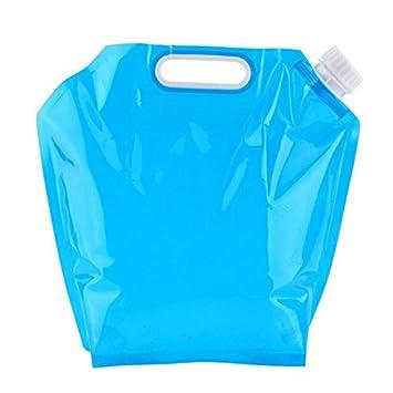Dxlta Bidón de Agua Plegable 5L / 10L Bolsa de Agua Potable Coche de contenedores,