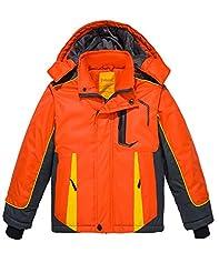 Wantdo Boy's Waterproof Ski Jacket Hoode...