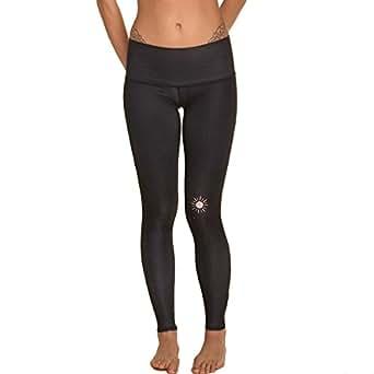 Teeki New Moon Black Hot Pant Yoga Leggings (XS)