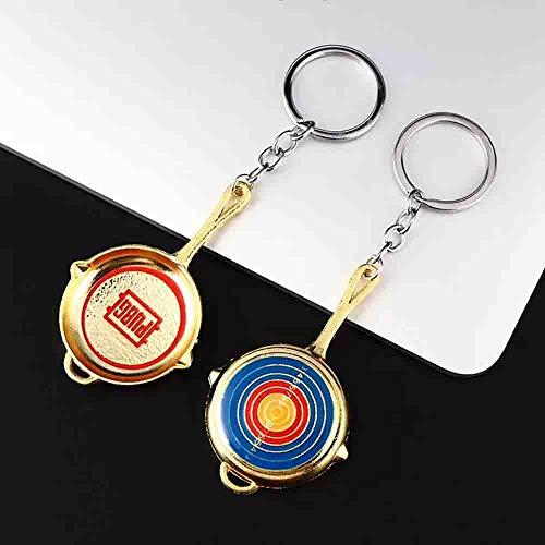 PUBG Keychain Accessories Keychain Charm Jedi survival Souvenir Gifts (AWM,PAN,Helmet,Medal) (Bullseye ()