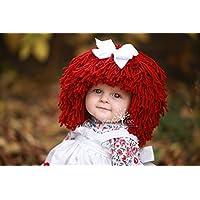 Raggedy Ann Hat for Kids Yarn Wig Halloween Costume
