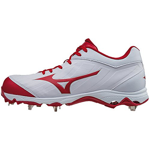 Mizuno Frauen 9-Spike Advanced Sweep 3 Softball Schuh weiß Rot