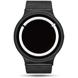 ZIIIRO Eclipse Steel Unisex Watches (Metallic Black Snow)