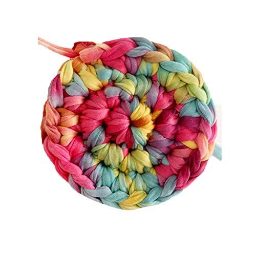Clisil 180g Hand Dyed Multi-Red T-Shirt Yarn,Recyled Fabric Yarn,Home Textile Yarn,Crochet Yarn,Basket Yarn,Fabric Yarn,Summer Bag - Cotton Hand Dyed Yarn