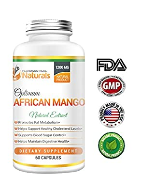 Natural African Mango Extract Dietary Supplements| Irvingia Gabonensis Extract Supports Blood Sugar Control | Maintain Digestive Health | Promote Fat Metabolism.