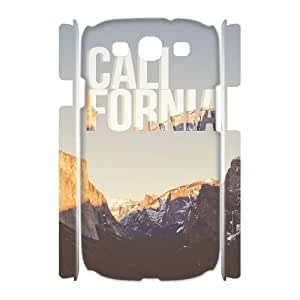 DIY califonia 3D Phone Case, DIY 3D Phone Case for samsung galaxy s3 i9300 with califonia (Pattern-1)