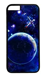 Earth and satellites in space PC Black Hard Case for Apple iPhone 6(4.7 inch)