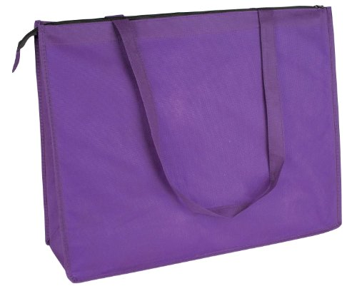 DALIX Reuseable Shopping Purple 2 PACK