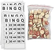 Tablecloth Deluxe Bingo Game with Accessories, The Italian Game of Chance for Family, Friends and Large Partie
