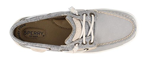 Sperry Women's, Rosefish Slip on Boat Shoe Chambray Gray 5 M by Sperry (Image #1)