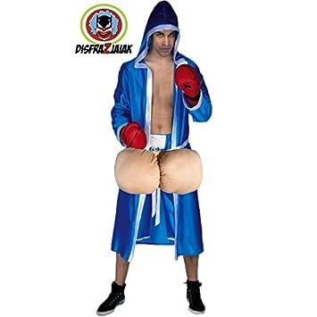 Disfraz Despedida de Soltero de Boxeador Huevon Azul: Amazon.es ...