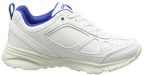 Geox J Bernie E, Zapatillas para Niños Blanco (White/blue)
