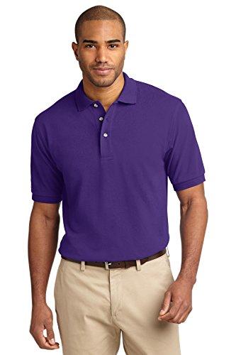 - Port Authority Men's Pique Knit Polo M Purple
