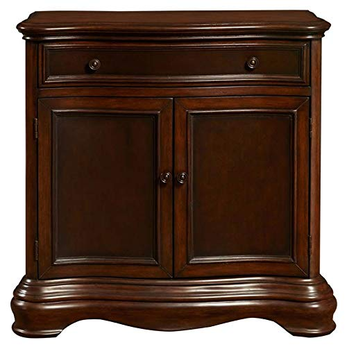Drawer Chest Accent 2 - Pulaski DS-P017033 Two Door Framed Accent Chest, Rich Brown