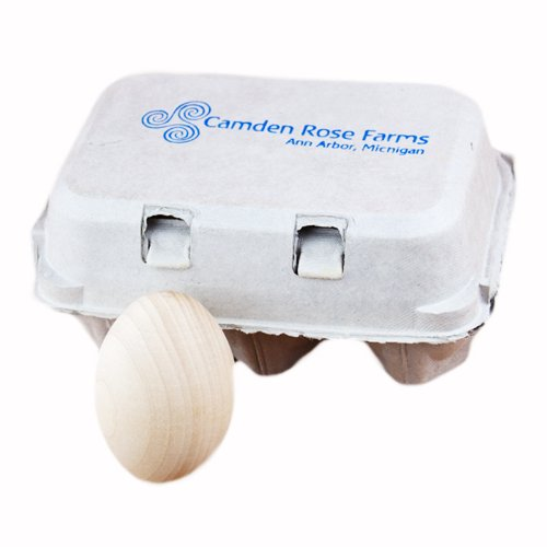 Good Wood Eggs, Six in a Recyclable Carton (childs play food)