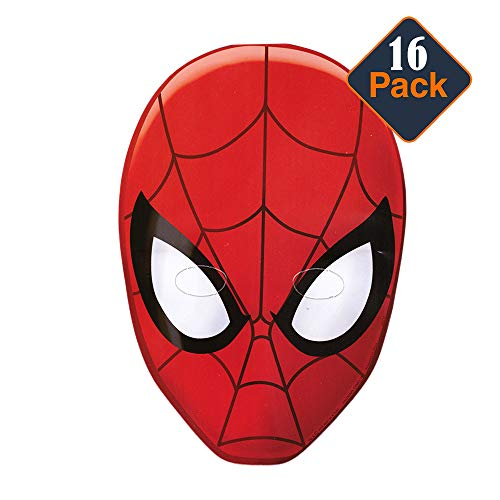 Spider-Man Hats/ Masks, 16 Count (Spiderman Party Supplies)