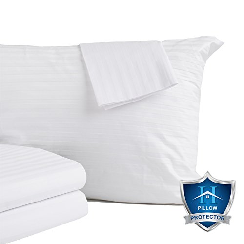 4-Pack Premium Allergy Protection Pillow Protectors. Hypoall