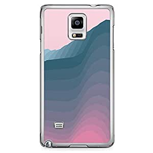 Samsung Note 4 Transparent Edge Phone Case Waves Phones Case Blue Hue 2D Note 4 Cover with Transparent Frame