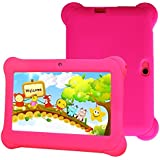Kids Tablet, Quad Core 7'' inch HD Screen Android 4.4 KitKat Dual Camera WiFi Per-Installed iWaw App - Proof Case(Red), Marnetsone
