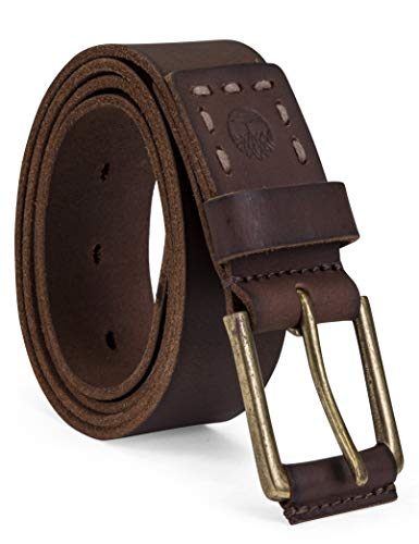 Timberland Men's Casual Leather Belt, dark brown, 34