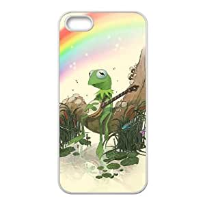 The Muppets Kermit The Frog iPhone 5 5s Cell Phone Case White xlb-192604