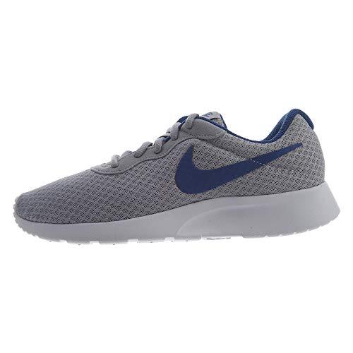 Nike Men's Tanjun Print Running Shoe (9 D(M) US, Wolf Grey Gym Blue White) ()