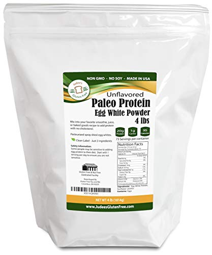 Egg White Protein Powder (4 LBS) (Non-GMO,Soy Free), Made in USA, Produced from the Freshest of Eggs