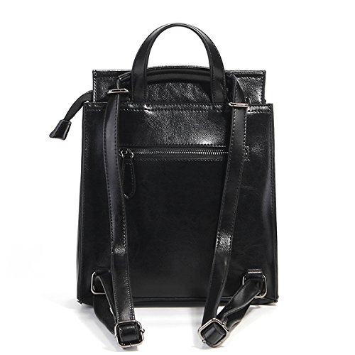 DISSA à fashion cuir Noir en Sac 8967 Sac femme portés LF main dos rqwSntrx4F