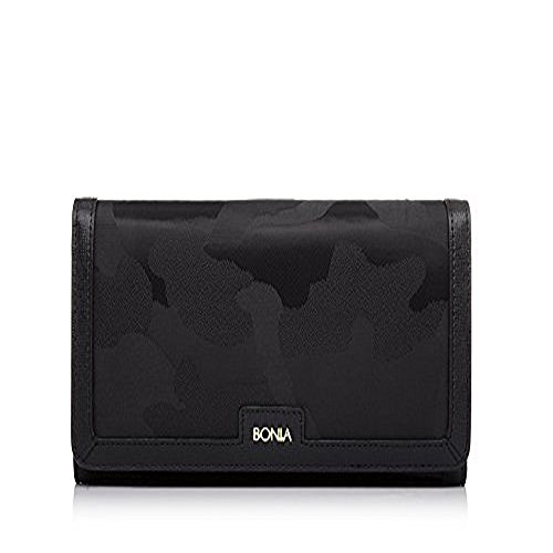 bonia-womans-black-alluring-two-fold-wallet