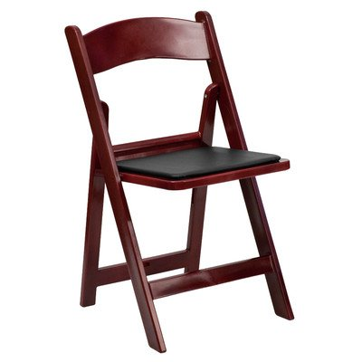 Resin Folding Chair with Vinyl Padded Seat [Set of 4]