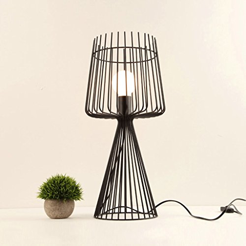 WXL Iron Art Table Lamp Restaurant Lamp Study Room Cafe Retro Mesh Table Lamp WXLV by WXL