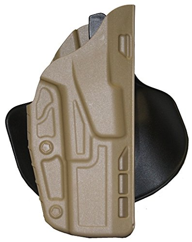 [Safariland 7378 7TS ALS Paddle & Belt Slide Concealment Glock 17 22 Holster, STX Flat Dark Earth, Left] (Concealment Belt Slide Holster)