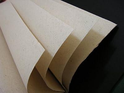 "Double Hemp Fiber Paper 5 Large Sheets 53""x27.5"" 57gsm"