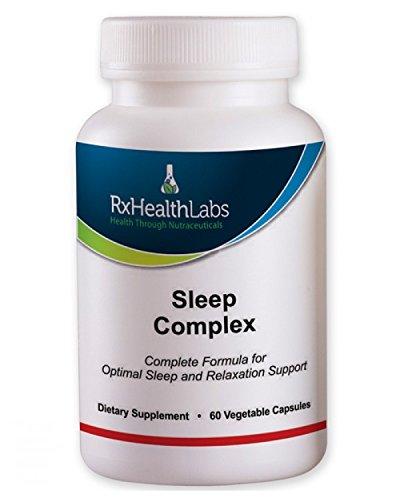 Rx Labs santé Complexe Sommeil - 60 capsules végétales COMPLETE Natural Sleep Aid Formule force maximale sommeil Soutien mélange de L-théanine, 5-HTP, la mélatonine, de magnésium, extrait de Mucuna pruriens, GABA et Phellodendron Root (poudre d'herbe).