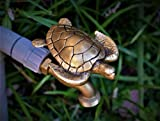 FESTIVE FAUCETS - Sea Turtle Garden Faucet Handle - Universal Outdoor Faucet Handle