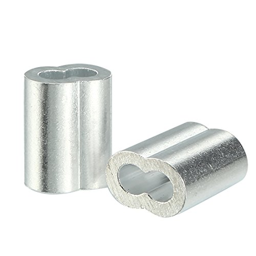 uxcell 2.5mm Cable Wire Rope Aluminum Sleeves Clip Crimping Loop (Loop Fitting)