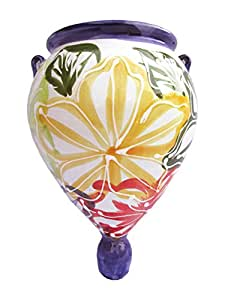 Wall Planter - Spanish Orza (Flor) - Hand Painted in Spain