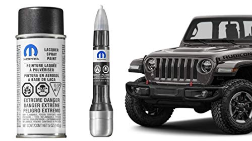 Jeep Cherokee Crystal - Mopar PAU Granite Crystal Metallic​ 2018 Jeep JL Wrangler Touch up Paint Genuine 5 oz Aerosol Spray Can or 4-in-1 Touchup Paint Pen Tube 68183829AB