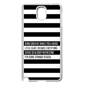Samsung Galaxy Note 3 Cell Phone Case White quotes being creative weird JNR2258577