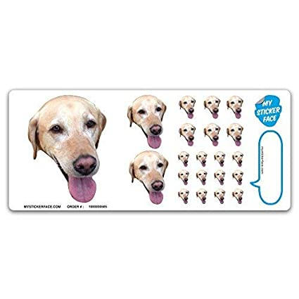fc90b3ce974 Amazon.com: Custom Face Stickers, Photo Stickers, Stickers of Your Dog,  Sampler Sheet - Pet Gift, Pet Stickers: Toys & Games