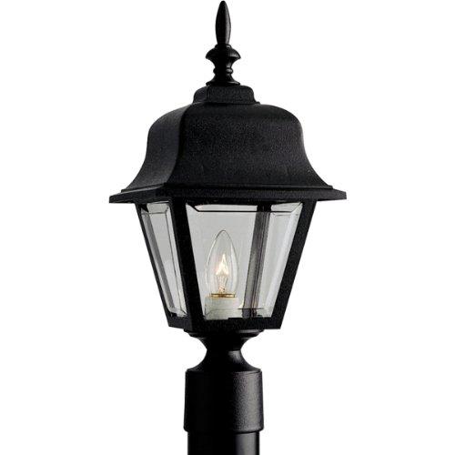 Progress Lighting P5456-31 Post Lantern with Clear, Beveled Acrylic Panels, (18