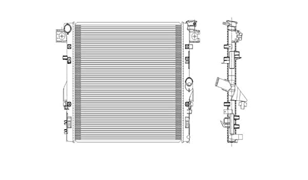 amazon com: jeep wrangler 3 8l v6 replacement radiator with automatic  transmission: automotive