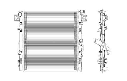 amazon com jeep wrangler 3 8l v6 replacement radiator jeep wrangler 3 8l v6 replacement radiator automatic transmission