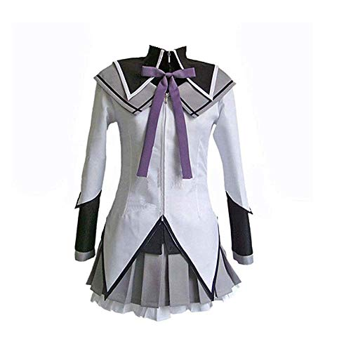Madoka Magica This Is Halloween (Game Puella Magi Madoka Magica Akemi Homura Cosplay Costume Halloween Costume Uniform Dress for Women Full Set White)