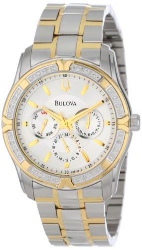 36f40d736d1 Bulova Men s 98E112 Diamond Set Stainless Steel Watch