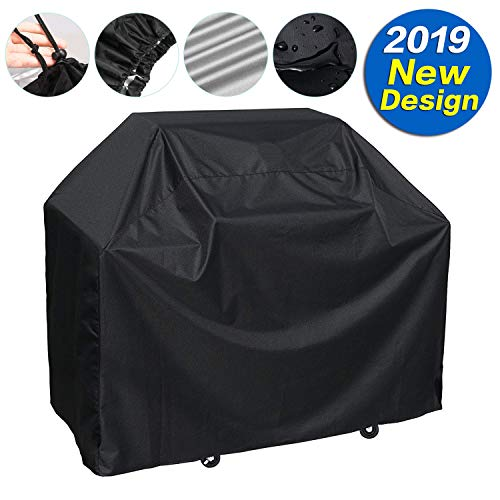SARCCH Grill Cover,(58″ Black) BBQ Special Grill Cover,Waterproof and  UV Resistant Material, Durable and Convenient,Fits Grills of Weber Char-Broil Nexgrill Brinkmann and More