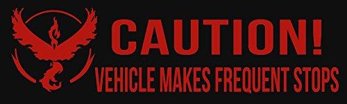 BuildASign Caution: Frequent Stops - Team Valor Pokmon Go Bumper Sticker