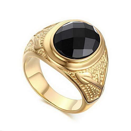Campton Size 8-11 Band Huge Black Agant Gold Stainless Steel Mens Wedding Ring Gift | Model RNG - 1209 | 9
